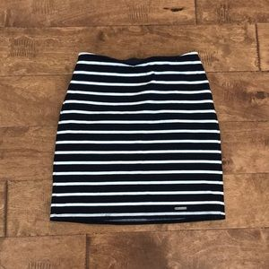 Abercrombie stripped pencil skirt